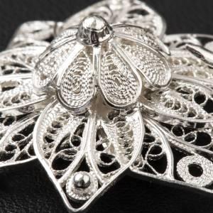 Gancio per piviale stella filigrana argento 800 s6