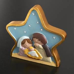 Heilige Familie: Geburt auf Stern gemaltes Harz