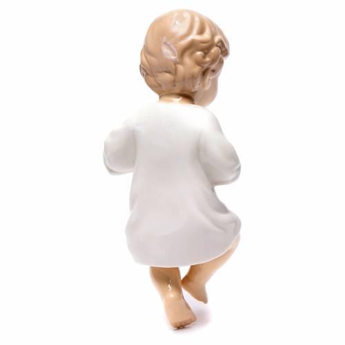 Gesù bambino ceramica lucida 20 cm s2