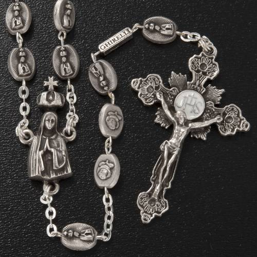 Ghirelli brass rosary, Our Lady of Fatima 6x8mm s2