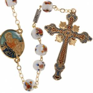 Ghirelli golden rosary Our Lady with Baby, 7mm beads s1