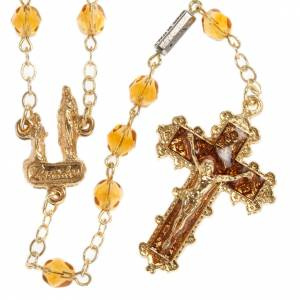 Ghirelli orange rosary Our Lady of Lourdes 6 mm s1
