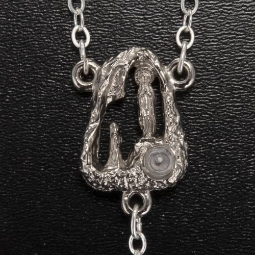 Ghirelli rosary Lourdes Grotto, grey-silver 6mm s3