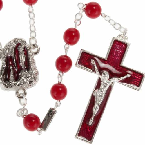 Ghirelli rosary, Lourdes, red 7mm s1