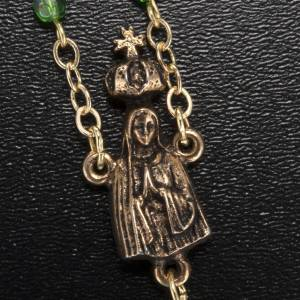 Ghirelli rosary Our Lady of Fatima, green 4 mm s3