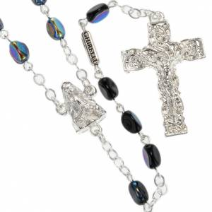 Ghirelli rosary Our Lady of Lourdes, black 7mm s1