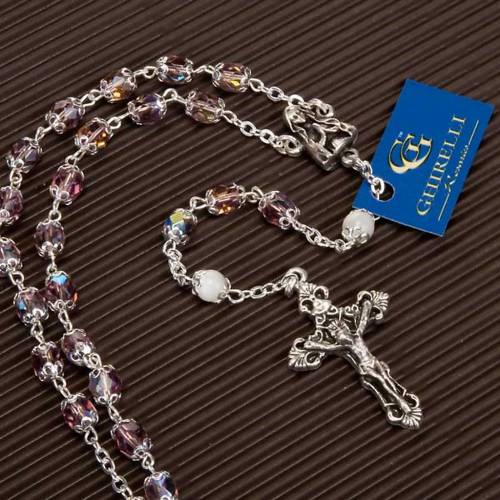 Ghirelli rosary pink and mother-of-pearl beads s4