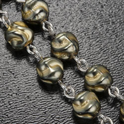 Ghirelli yellow-grey rosary Lourdes Grotto 5mm s4