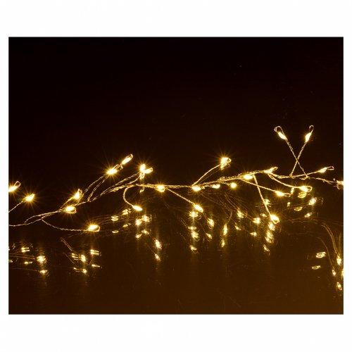 Ghirlanda luminosa 300 micro LED bianco caldo INTERNO corrente s4