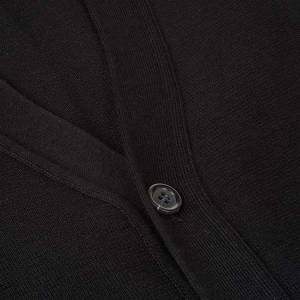 Vestes, gilets, pullovers: Gilet ouvert avec poches, noir