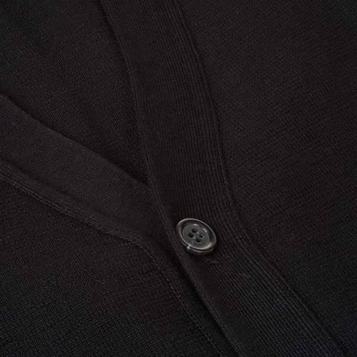 Gilet ouvert avec poches, noir s3