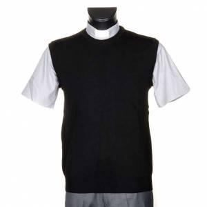 Gilet girocollo maglia unita nero s1