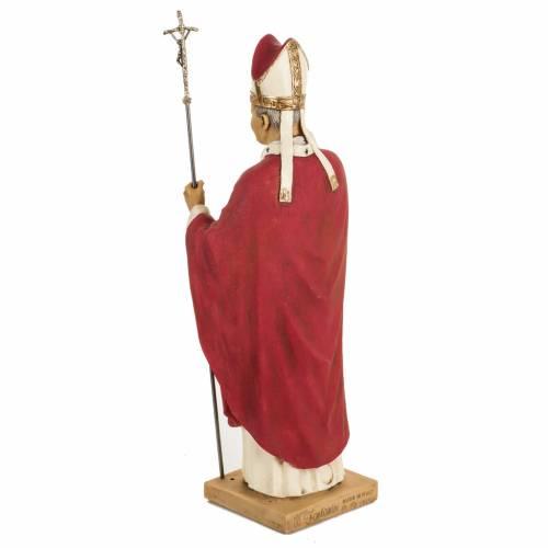 Giovanni Paolo II veste rossa 50 cm resina Fontanini s5