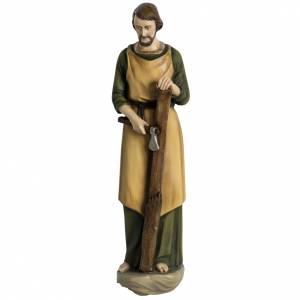 Statue in Vetroresina: Giuseppe falegname 60 cm applicazione vetroresina