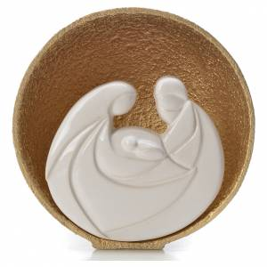 Gold Pearl Nativity figurine in Refractory clay 14.5cm s1