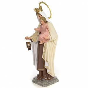 Statuen aus gemalten Holz: Gottesmutter der Karmel 40cm Holzmasse, fein Finish