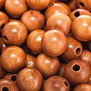 Rosari Fai Da Te: Grani rosario legno colore naturale tondo
