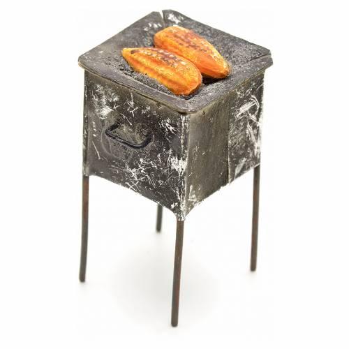 Grille en miniature avec épis de mais 4,5x2x2 s2