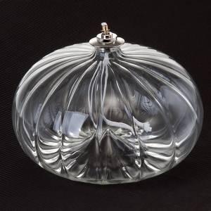Lampen und Lanternen: Große mundgeblasene Glasöllampe