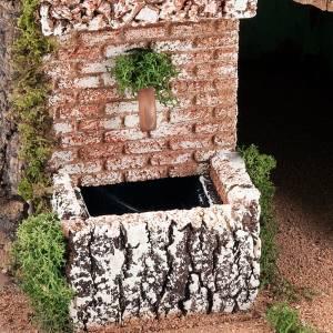 grotte pour crèche et village, 60x40x50, 2 niveaux s4