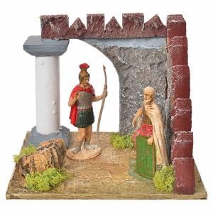 Guardie romane e muro castello, ambiente presepe s1