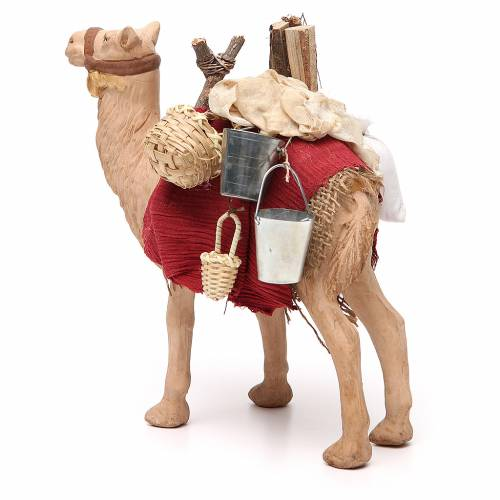 Harnessed standing camel for Neapolitan nativity 14cm s2