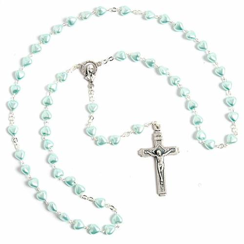 Heart-shaped beads pearled rosary s2