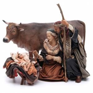 Krippenfiguren von Angela Tripi: Heilige Familie mit Ochse 30cm Angela Tripi