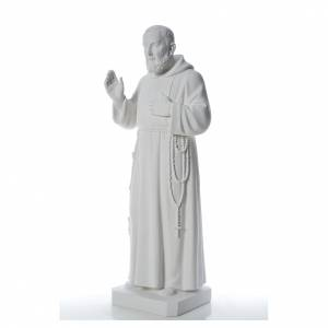 Kunstmarmor Statuen: Heiliger Pater Pio 110 cm Marmorpulver Statue
