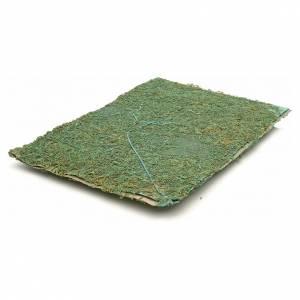 Fondos y pavimentos: Hoja con musgo verde para  el belén