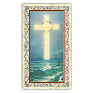 Holy cards: Holy card, Cross, Prayer to the Holy Cross ITA, 10x5 cm
