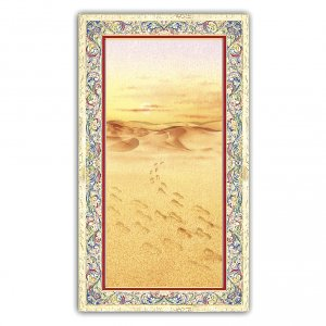 Holy cards: Holy card, Footprints in the sand, Message of Tenderness ITA, 10x5 cm