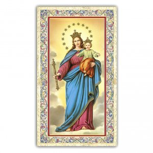 Holy cards: Holy card, Mary Help of Christians, Prayer ITA, 10x5 cm