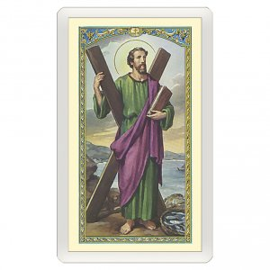 Holy cards: Holy card, Saint Andrew Apostle, prayer to Saint Andrew ITA 10x5 cm