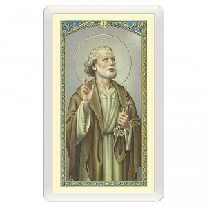 Holy cards: Holy card, Saint Peter, Novena to Saint Peter ITA 10x5 cm