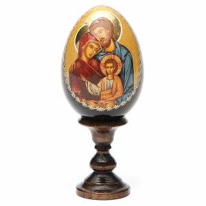 Russian painted eggs: Holy Family egg icon printed