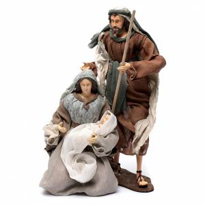 Nativity sets: Holy family in resin, gauze and lace 50 cm