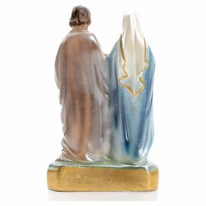 Holy Family statue in iridescent plaster 16cm s3