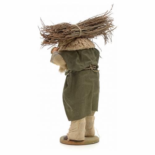 Hombre con madera 14cm pesebre terracota Nápoles s3
