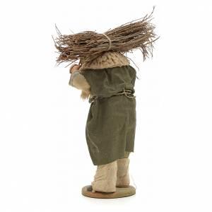 Homme au fagot de bois crèche Napolitaine 14 cm s3