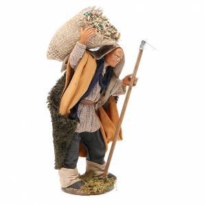 Homme avec binette et sac 14 cm crèche napolitaine s4