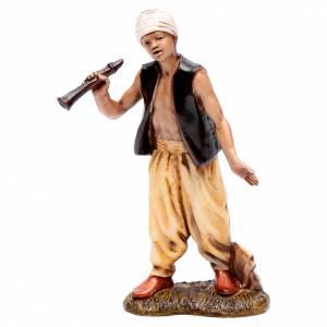 Crèche Moranduzzo: Homme avec turban et flûte 10 cm Moranduzzo style XVIII