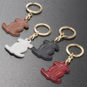 Key Rings: Hope anchor leather key ring