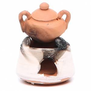 Hornos y fogatas para el belén: Horno cerámica con olla 5 cm