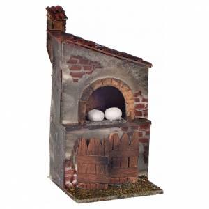 Belén napolitano: Horno con chimenea 12x6x6 cm pesebre Nápoles