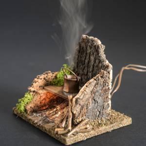 Horno con humo verdadero, destilador y transf.para el pesebre s4