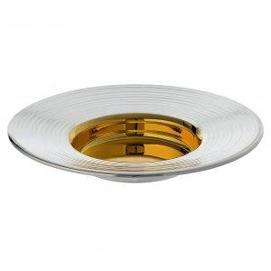 Metall Kelchen, Patenen, Ziborium: Hostienschale Modell Heiliger Anselm Linienkanten