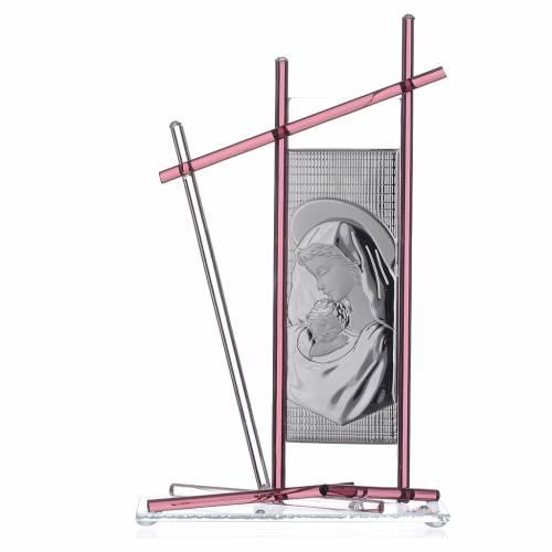 Icon Birth silver and Murano Glass, Violet 24x15cm s1