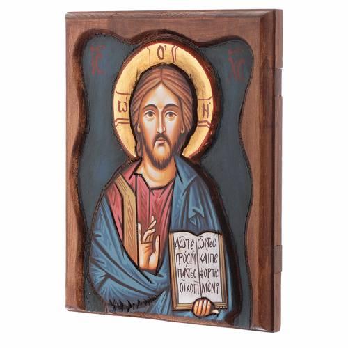 Icona rumena Cristo Pantocratore s2