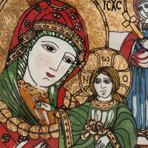Icona dipinta su vetro Madre di Dio Odighitria s2